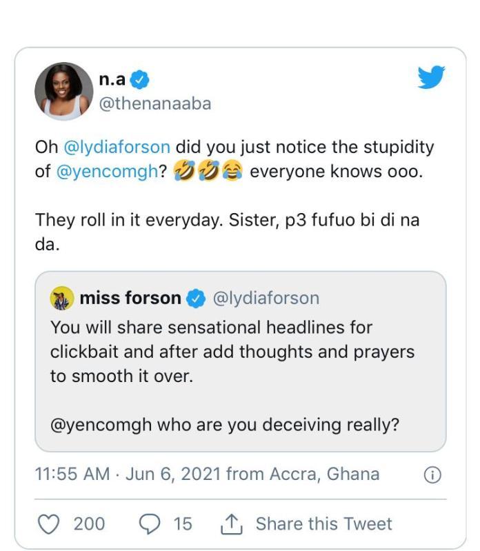 It's stupidity! Nana Aba, Lydia Forson Fight Yen Over Claims that Kojo Yankson bonked them all 2