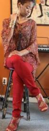 Red Skinny Jean Girl 6