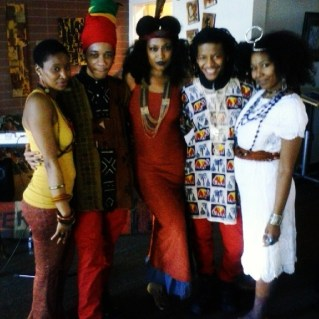 Artist LaToya Kent (far right) & friends @ the Turn Up the Volume Live Fine Tuning Session. Asante sana! Check out LaToya's Sweet Oil Album http://clevelandtapes.com/album/sweet-oil