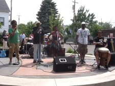 On stage w/the Griot Project