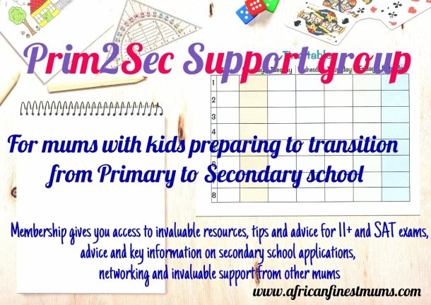 Africanfinestmums - Prim2Sec Support group launching soon