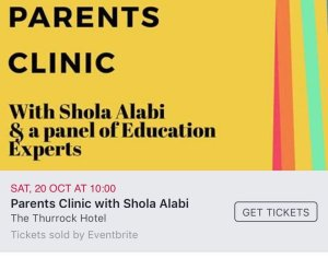 Africanfinestmums - Events - Parents Clinic with Shola Alabi