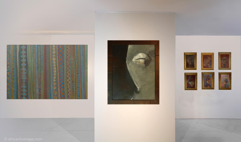 Gallery - African Homage - Paintings Xea B. - 8 paintings