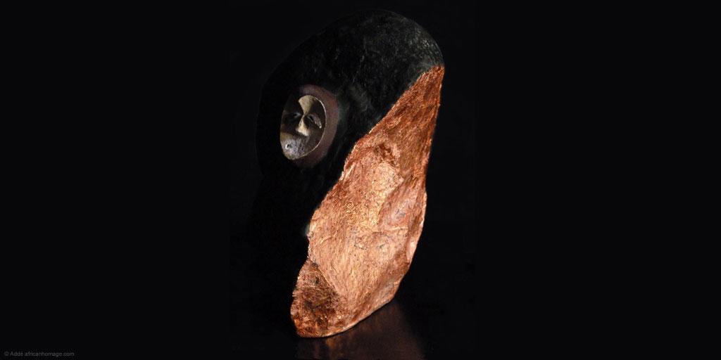 Sculpture African Homage Ekuk