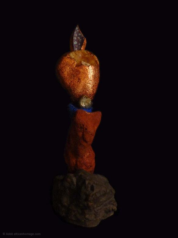 Painted Sculpture sculptor Addé African Homage