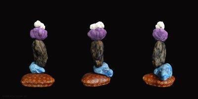 Purple haze, sculpture, Addé, 3 sculptures