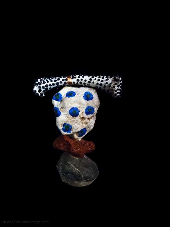 Tackety Bone, sculpture, Addé, African Homage