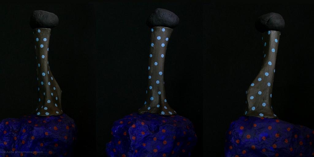 tristesse, sculpture, Addé, african hommage