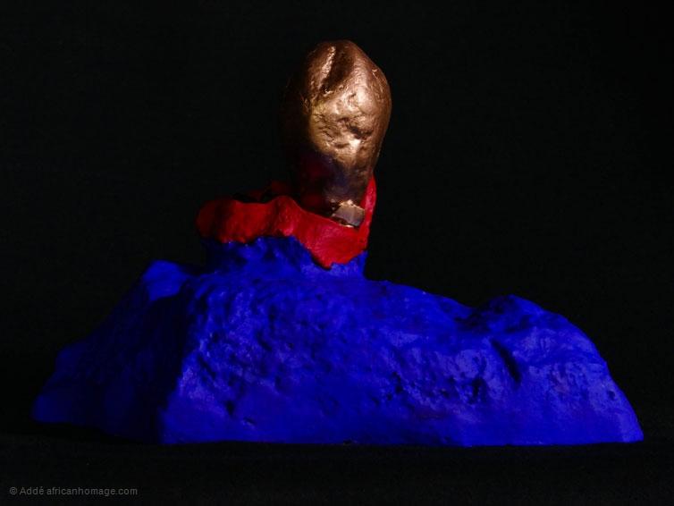 El sueño del conquistador, sculpture, Addé, African Homage