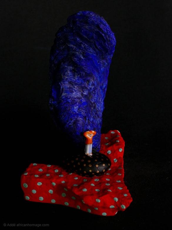 Sadness of the clown, sculpture, Addé