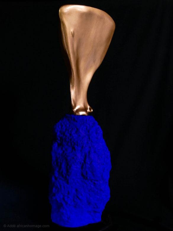 Morphogenesis V, sculpture, Addé, African Homage