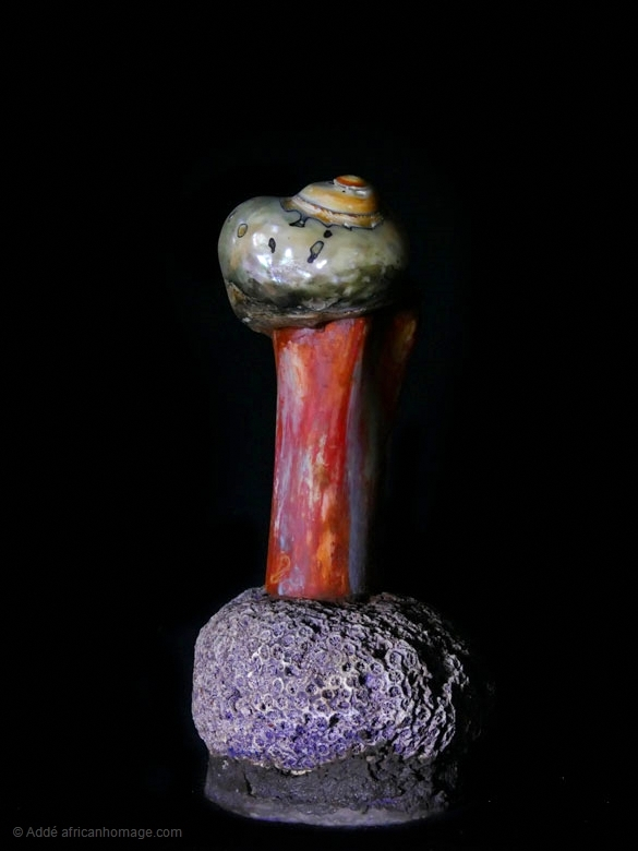 De rerum natura, sculpture, Addé, African Homage