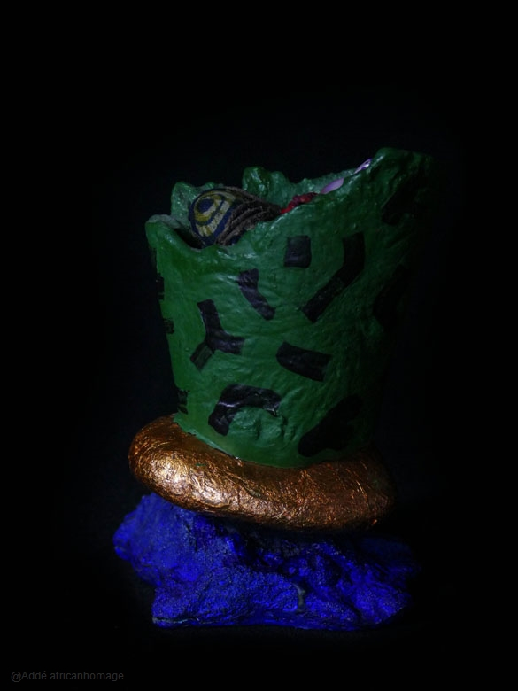 Reliquary II, sculpture, Addé, African Homage