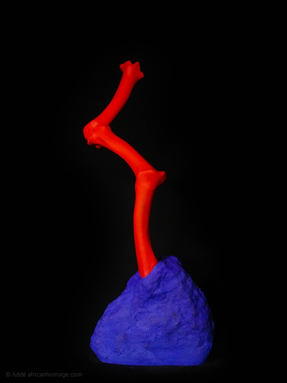 Exploding tooth paste, sculpture, addé, african homage