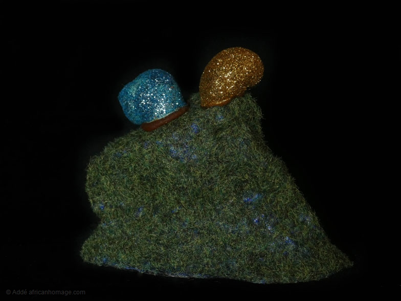 The glittering snail, sculpture, Addé