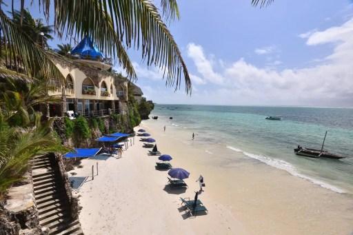 Bahari Beach in Mombasa