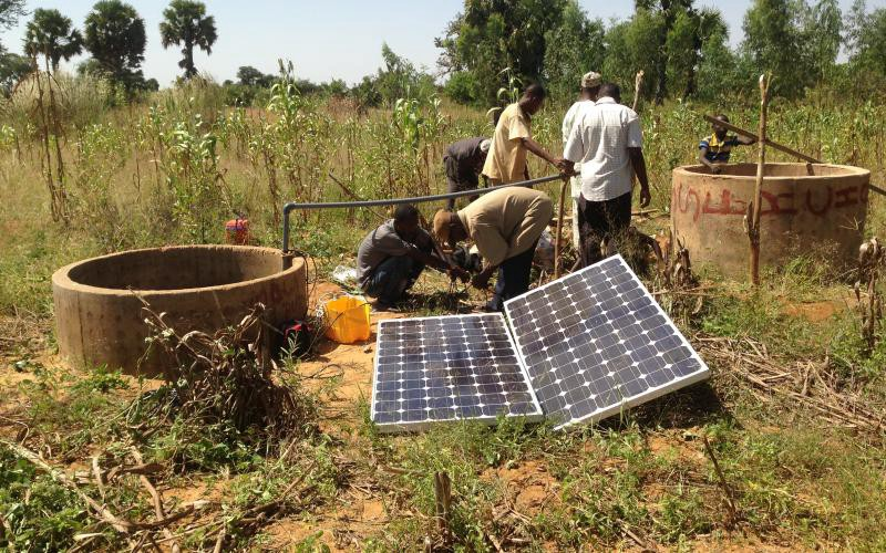 installation du sispositif de télé-irrigation