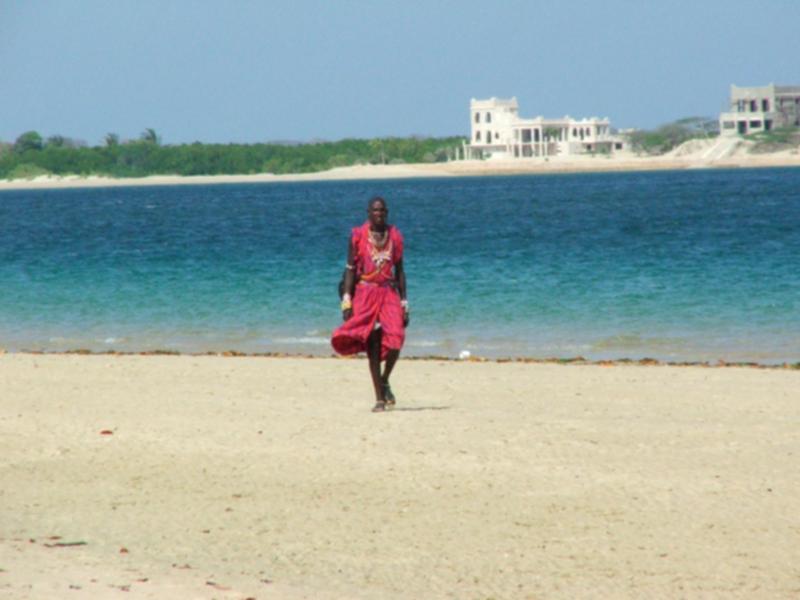 My Masai Friend on the Beach