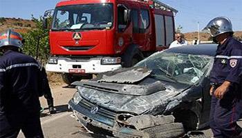 Le nombre des accidents enregistrés