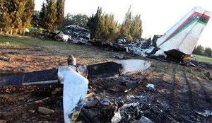 Des séquences viennent d'être mises en ligne sur les réseaux sociaux montant les débris carbonisés de l'avion militaire médicalisé libyen qui