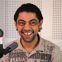 L'acteur et réalisateur Nasreddine Shili et le photographe de la chaine Astrolabe TV