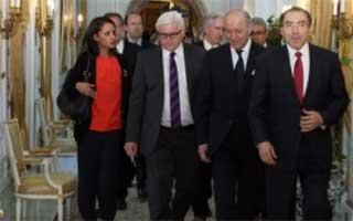 Les deux ministres des Affaires étrangères de France et d'Allemagne