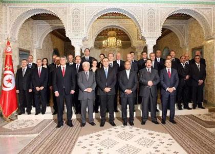 «Recevant ce mercredi 29 janvier 2014 le nouveau gouvernement de Mehdi Jomâa
