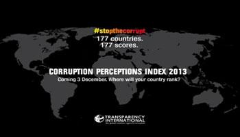 présenté le rapport annuel sur « l'indice de perception de la corruption 2013 ». Il en ressort que la Tunisie y est classée 77 sur 177 pays