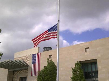 L'ambassade des États-Unis affichait