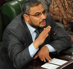 Le président du groupe parlementaire d'Ennahdha à l'Assemblée nationale constituante