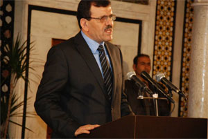 L'actuel chef du gouvernement Ali Laâryedh a annoncé