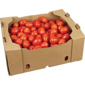 Box of fresh tomatoes
