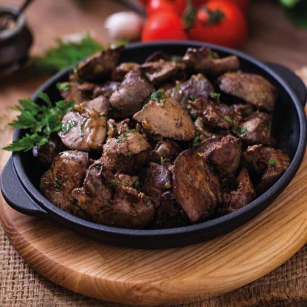 Diced air fry liver meat 600g