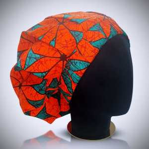 African Ankara Satin Hair Bonnet - Large size