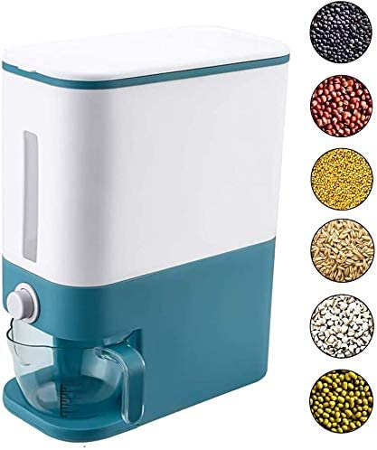 12kg Rice Storage Tank and Dispenser with Measuring Cup