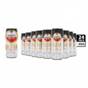 Amstel Malta No Sugar Added x 24 cans