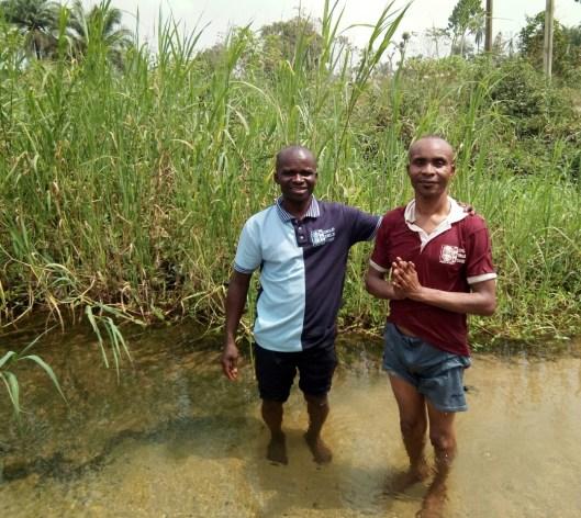 Ime Inuaeyen & Mojima Etokudo in the River