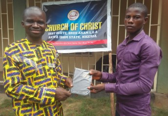 The Newly Baptized received a Bible
