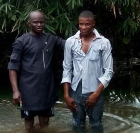 Mojima baptizing Ofonbuk Udom