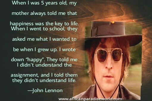 one of the best inspirational quotes from John Lennon