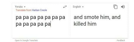 end time message from Google translate