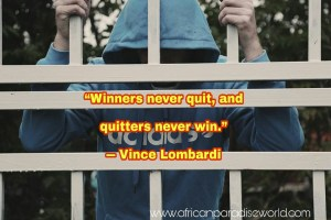 Finding powerful inspiration from giving up quotes