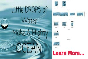 Ocean from little drops of water