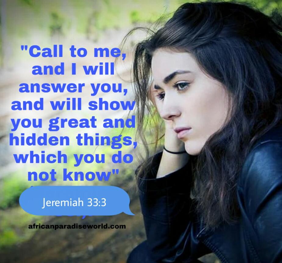 Jeremiah 33:3 Bible verse