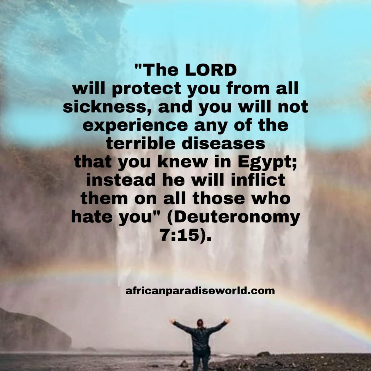 God will protect you against sicknesses verse
