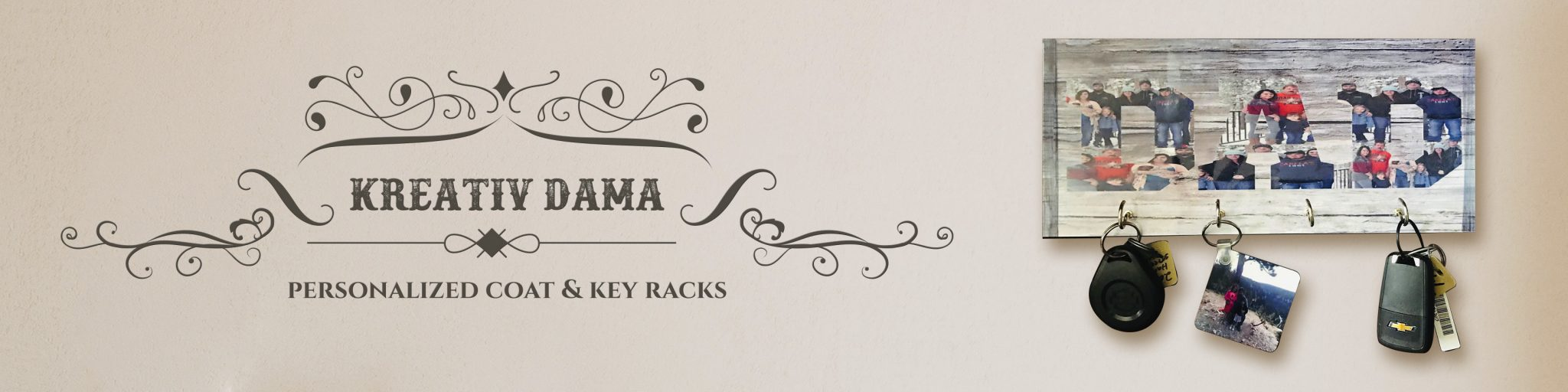 Kreativ Dama - Personalized coat and key racks