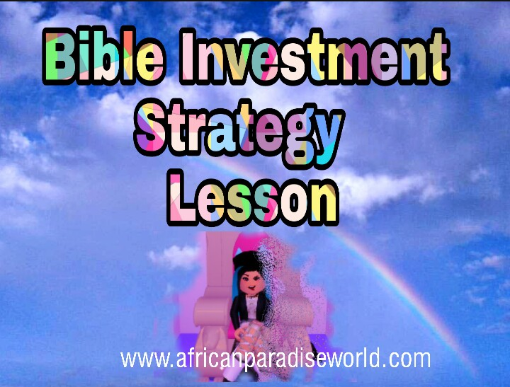 Lesson about Bible verses for investment