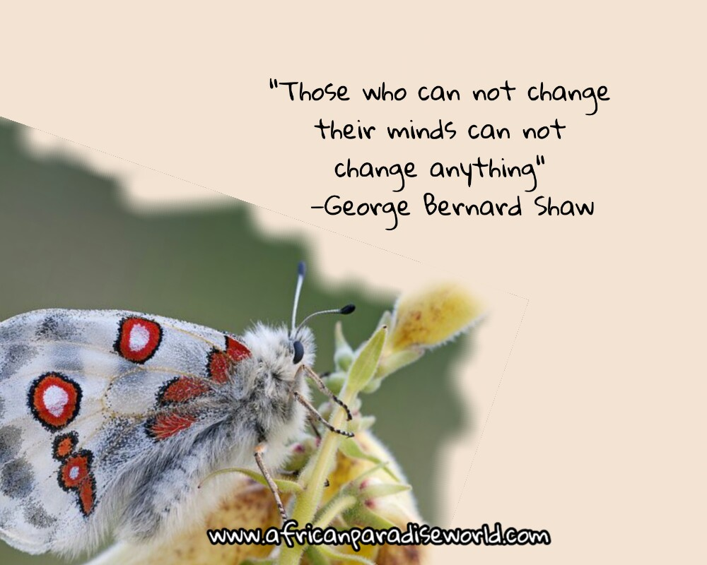 Those who can not change their minds quote from George Bernard Shaw
