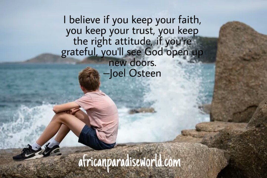Quote about thoughts by Joel Osteen
