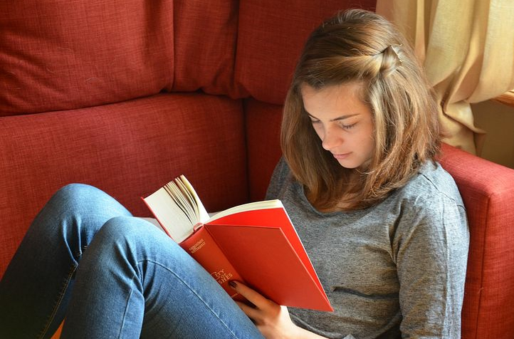 Youth spending quality time reading books